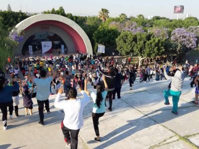 """2da Macroactivación del reto """"actívate y vuelve a tu mejor versión"""" de Secretaría de Salud del estado de Querétaro. (07 de abril del 2019)"""